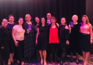 Board members of Vic ICT for Women at 2019 Tech Diversity Awards